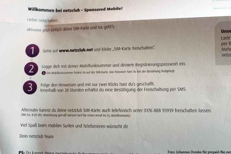 Brief von netzclub