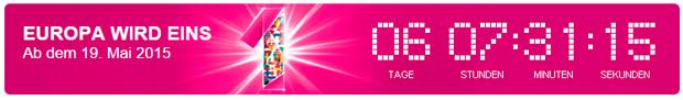 Telekom - Europa wird Eins Countdown