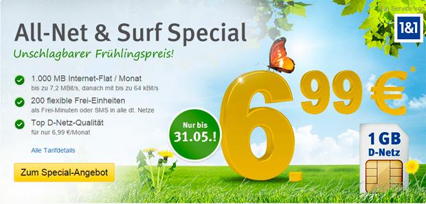 All-Net & Surf Special von WEB.DE und GMX