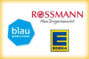 Blau Rossmann Edeka