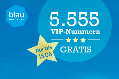 5.555 VIP-Nummern bei blau.de