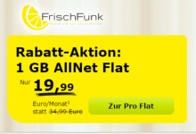 FrischFunk: Allnet-Flat Aktion