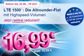 Eteleon Allnet-Flat mit 1,5 GB bzw. mit 3 GB LTE Datenvolumen