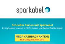 Sparkabel Mega Cashback Aktion