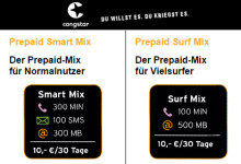 Neue Prepaid-Pakete von congstar