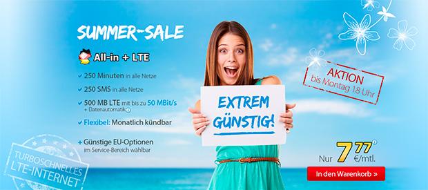 DeutschlandSIM Summer-Sale
