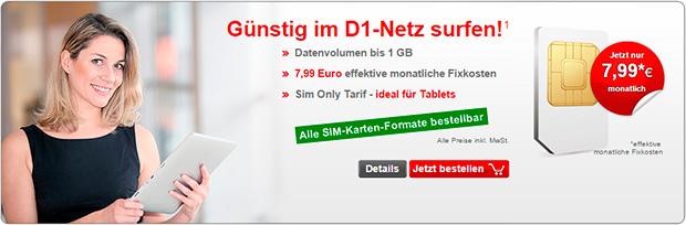 1 GB Daten bei InternetSIM