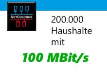200.000 Haushalte mit 100 MBit/s