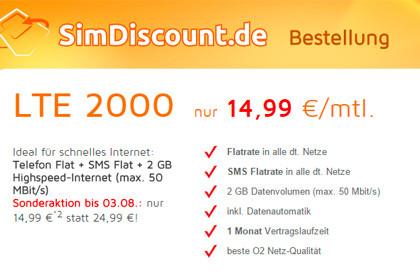 SimDiscount LTE 2000