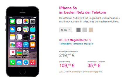 Telekom iPhone 5S Aktion