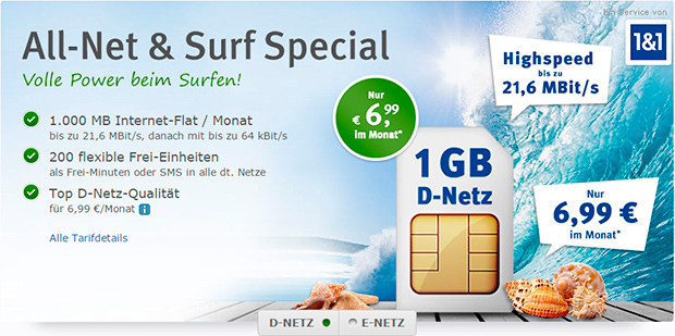 web.de All-Net & Surf Special