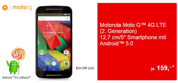 Aldi Süd: Moto G LTE (2. Gen.) inkl. Aldi Prepaid-Startpaket