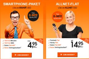 Neben cleverSMART 400: callmobile bietet cleverALLNET 500 an