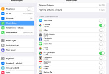 Apps für das Nutzen von mobilen Daten auf iPad Verwalten