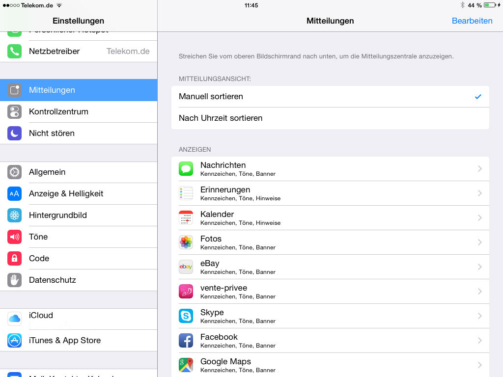 iPad Nachrichten