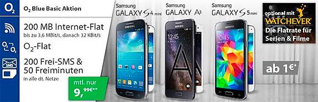 o2 Blue Basic mit Smartphone
