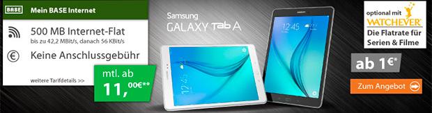 Samsung Galaxy Tab A 9.7 inkl. BASE Daten-Flat