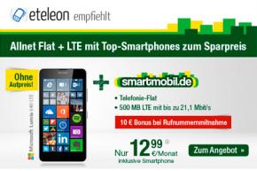 smartmobil.de: Allnet-Flat mit 500 MB und Top-Smartphone ab 12,99 Euro