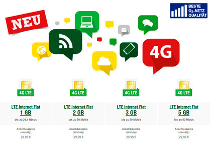 Smartmobil LTE Datentarife
