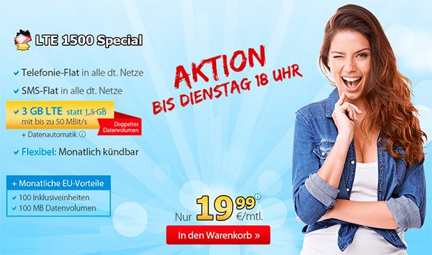DeutschlandSIM LTE 1500 Special Aktion