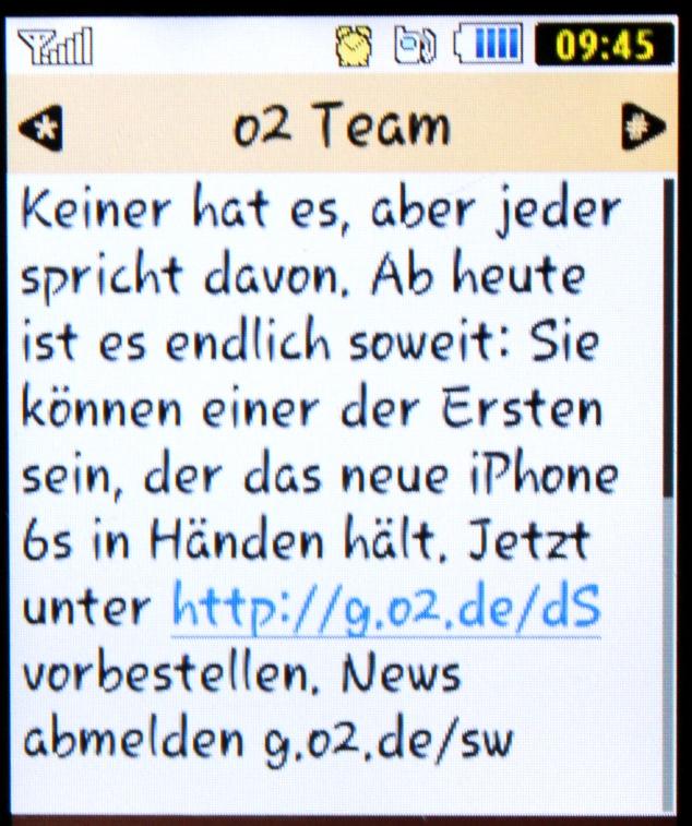 iPhone SMS o2