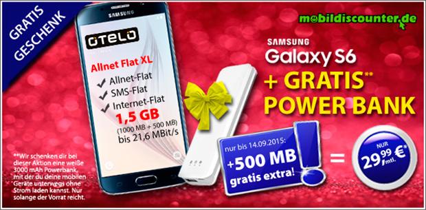 mobildiscounter Otelo Allnet Flat XL inkl. Samsung Galaxy S6