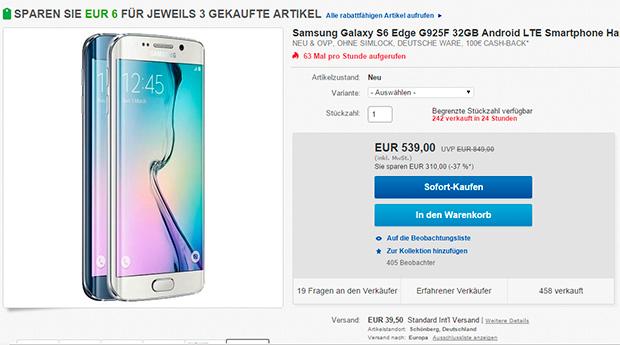 Samsung GALAXY S6 Edge - Ebay