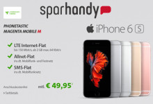 sparhandy Phonetastic MagentaMobil und iPhone 6s/6s PLUS oder Samsung GALAXY S6/S6 Edge