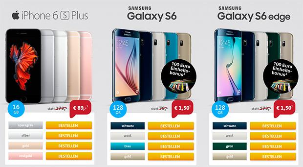 sparhandy Phonetastic MagentaMobil  und iPhone 6s/6s PLUS oder Samsung GALAXY S6/S6 Edge