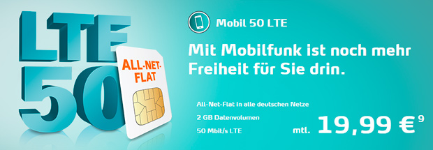 Telecolumbus Mobilfunk LTE 50
