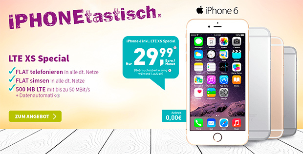 yourfone LTE XS Special mit iPhone 6