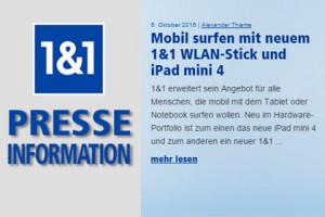 1&1 mobil surfen mit iPad