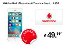 7mobile Oktober Deal: iPhone 6s mit Vodafone Smart L