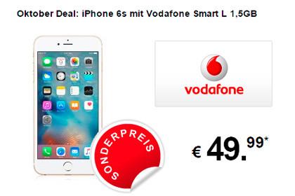 7mobile Oktober Deal: iPhone 6s mit Vodafone Smart L