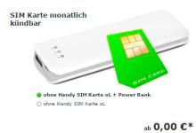 8-Cent-Prepaid-Tarif mit Netzwahl und kostenloser Power Bank