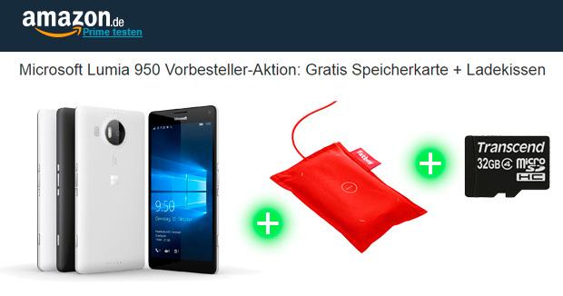 Amazon Microsoft Lumia 950 Vorbesteller-Aktion