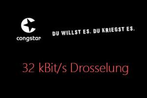 congstar 32 Kbit Drosselung