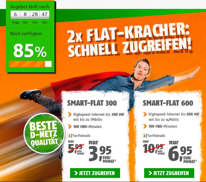 crash-tarife Zwei Smartphone-Tarife