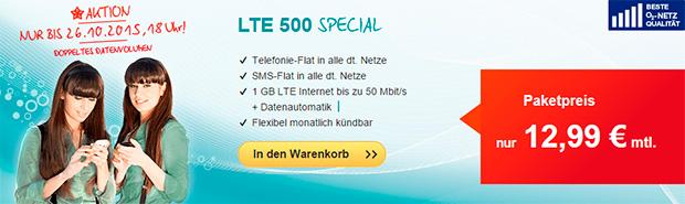 hellomobil LTE 500 Special Aktion