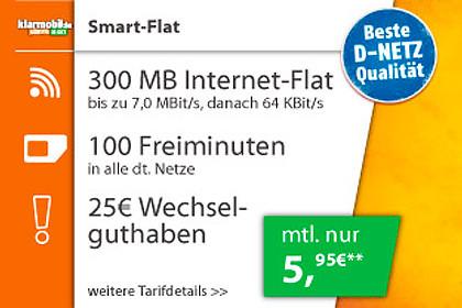 LogiTel - Klarmobil Smart Flat mit Amazon-Gutschein oder Smartphone