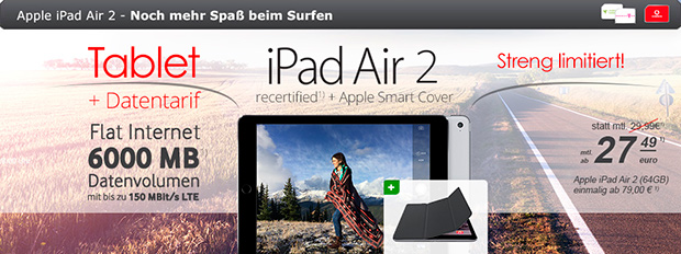 modeo Apple iPad Air 2 mit Internet-Flat