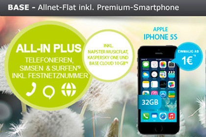 modeo BASE Allnet-Flat mit Smartphone