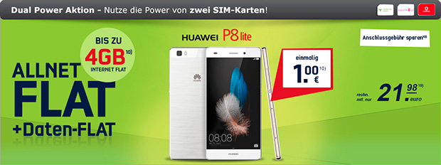 modeo Dual-SIM-Smartphone Huawei P8 Lite