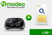 modeo o2 Comfort Allnet 1,5 gb mit Gamepad