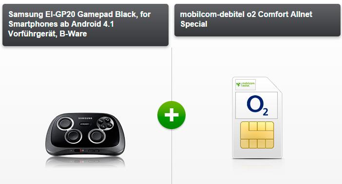 modeo o2 Comfort Allnet 1,5 gb mit Gamepad