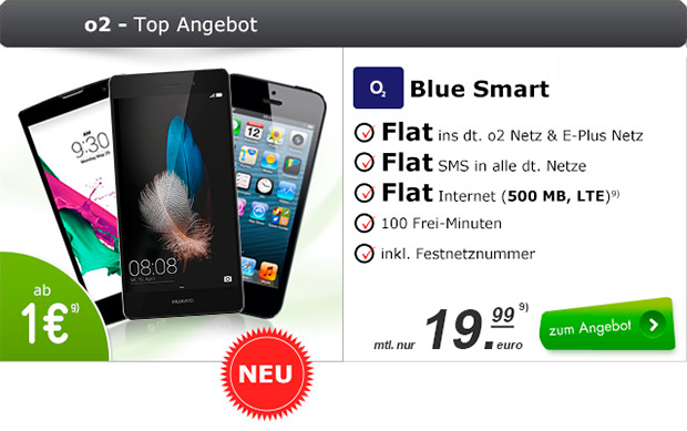 modeo o2 Blue Smart mit Smartphones
