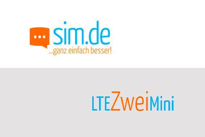 sim.de LTE Zwei Mini