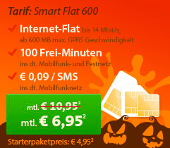Sparhandy Klarmobil Smart Flat 600