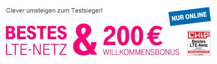 Telekom 200 Euro Bonus für Neukunden Aktion