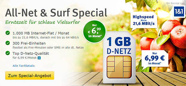 web.de All-Net Surf Special